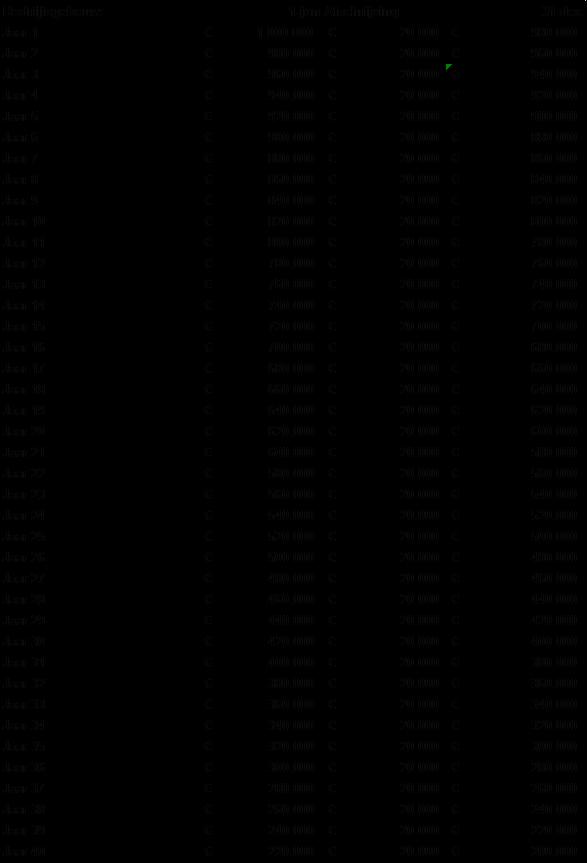 Voorbeeld historische kostprijs